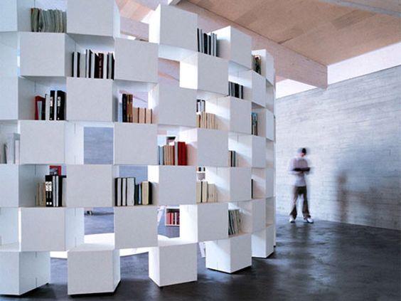 libreria in cartongesso per ufficio