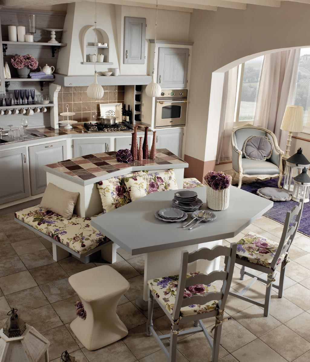 Cucine shabby chic accessori e mobili con foto per for Arredamento country chic ikea
