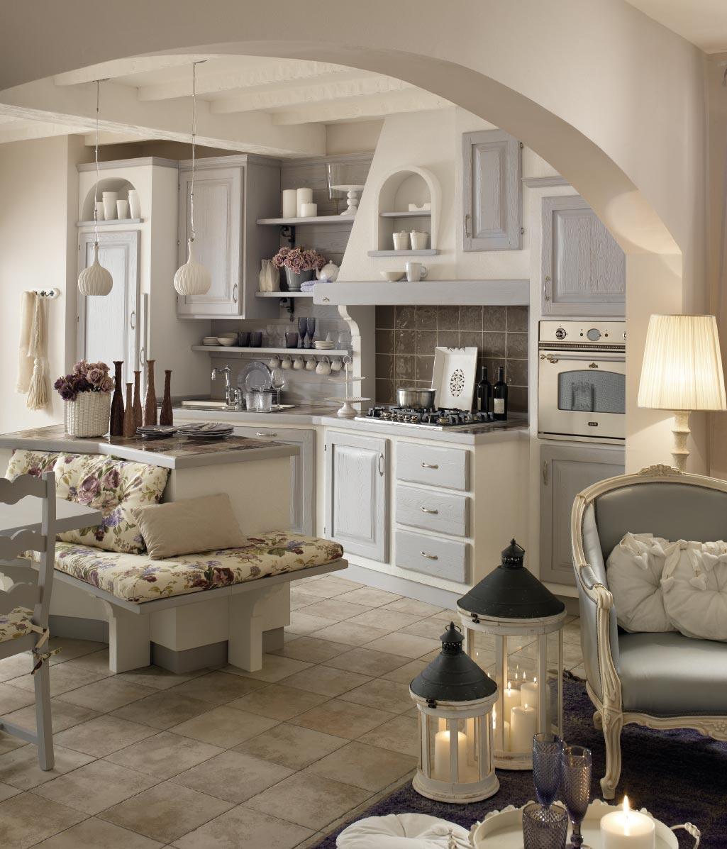 Cucine shabby chic accessori e mobili con foto per scoprire questo stile designandmore - Foto cucine country ...