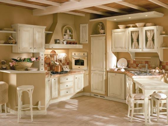 Cucine shabby chic accessori e mobili con foto per scoprire questo stile - Cucine country immagini ...