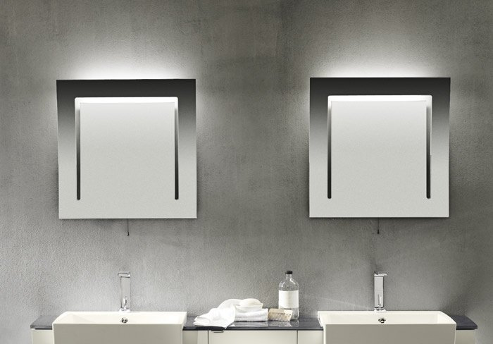 specchio luce bagno
