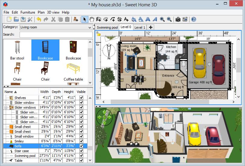 programmi per interior design sweethome3d