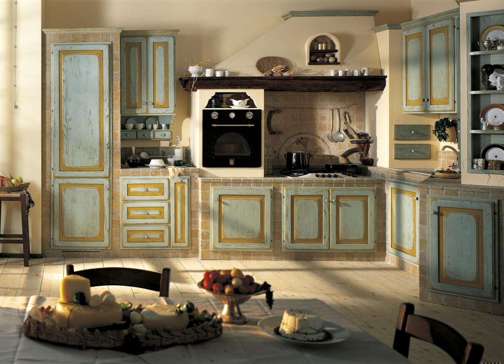 Cucine shabby chic accessori e mobili con foto per - Esempi di cucine in muratura ...