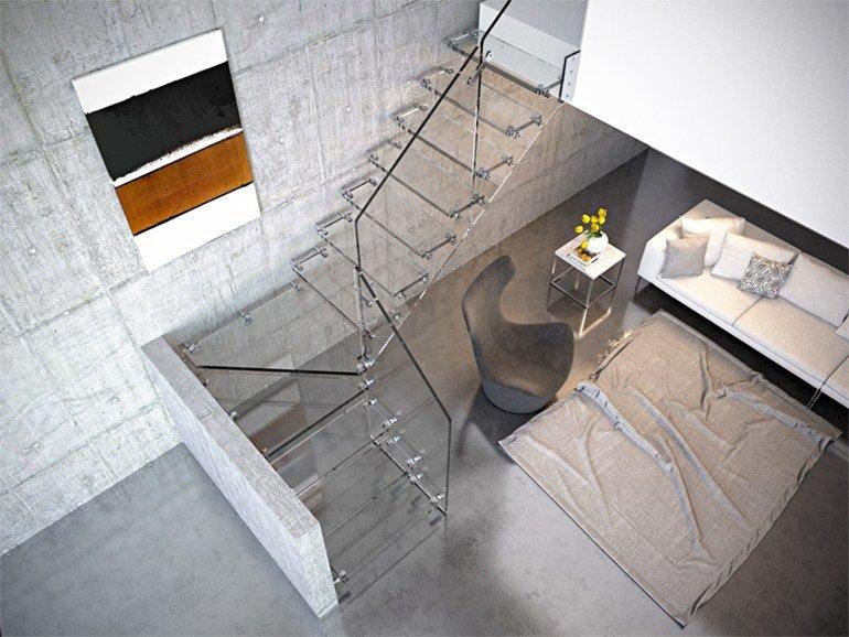 scale in vetro Aira Glass di Rintal