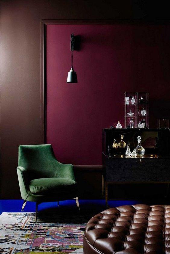 bordeaux colore pareti