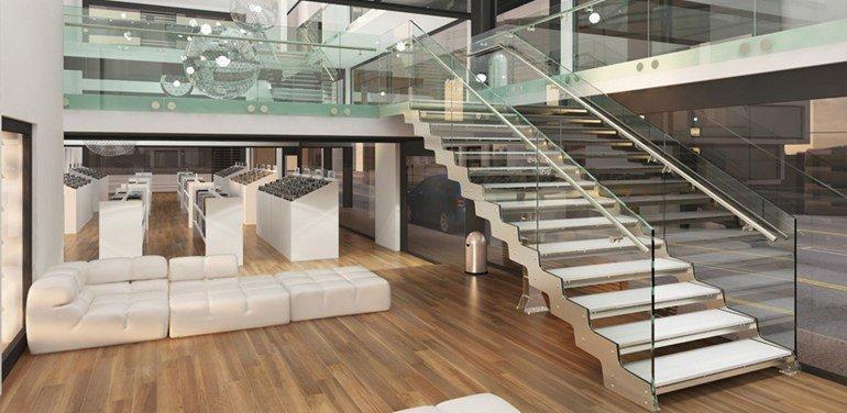 scale in acciaio progetto Onda di Executives.