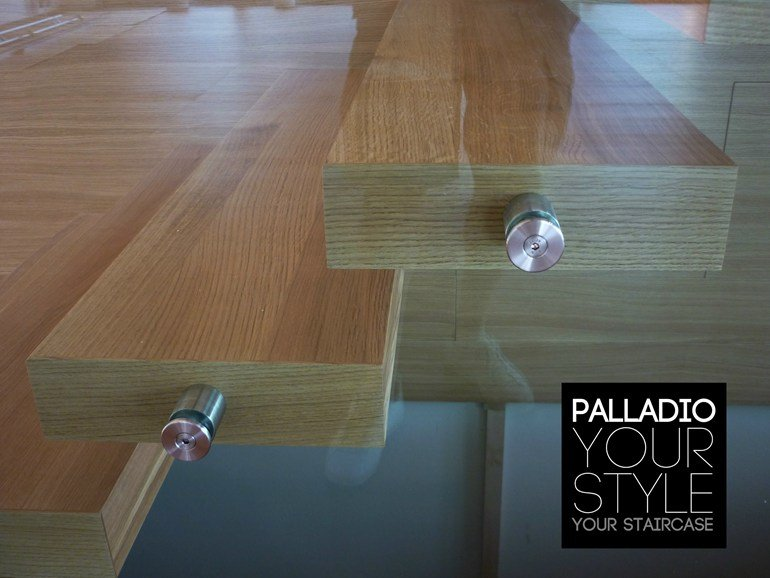 scale in legno Palladio Wood Floating