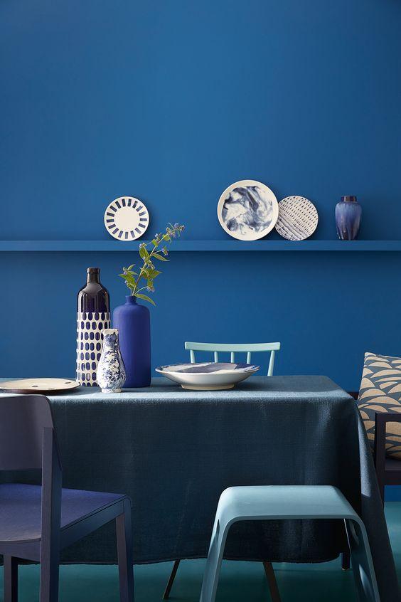 colore blu pareti
