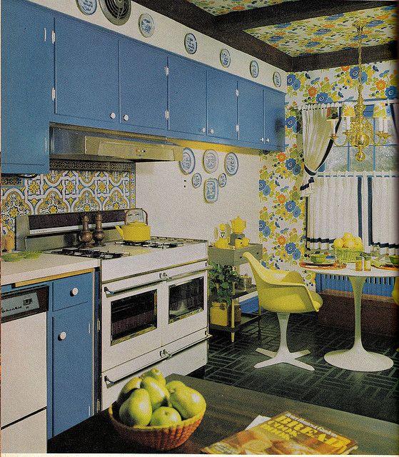 cucina con mobili vintage