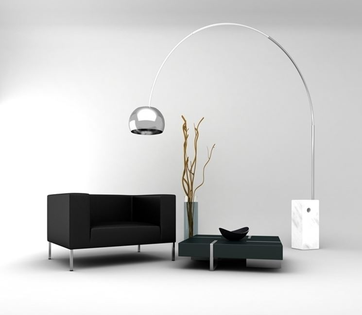 Lampada arco di flos un pezzo di design del made in italy designandmore arredare casa - Lampade design famosi ...
