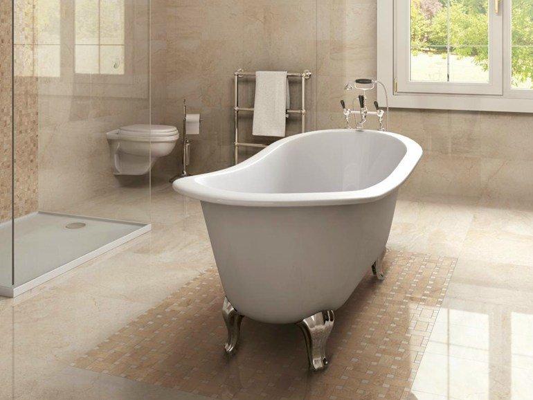 Grés porcellanato effetto pietra in bagno