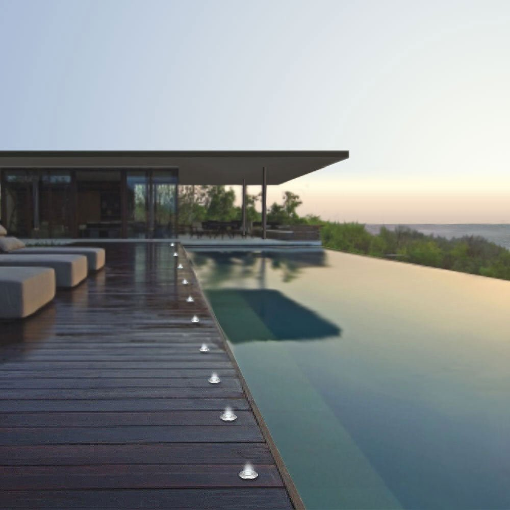 Segnapasso led per esterni ma anche per cucina foto e for Spot led terrasse piscine