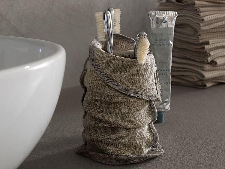 portaspazzolino in lino di design