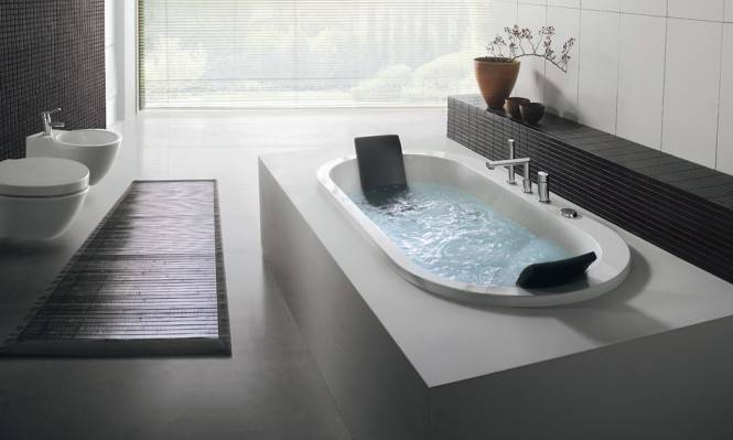 Vasche in muratura a mosaico o in cemento soluzioni e idee designandmore arredare casa - Vasca da bagno in cemento ...