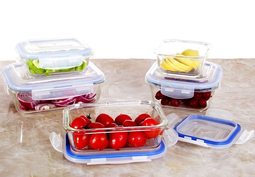 contenitori Vhari per alimenti in vetro