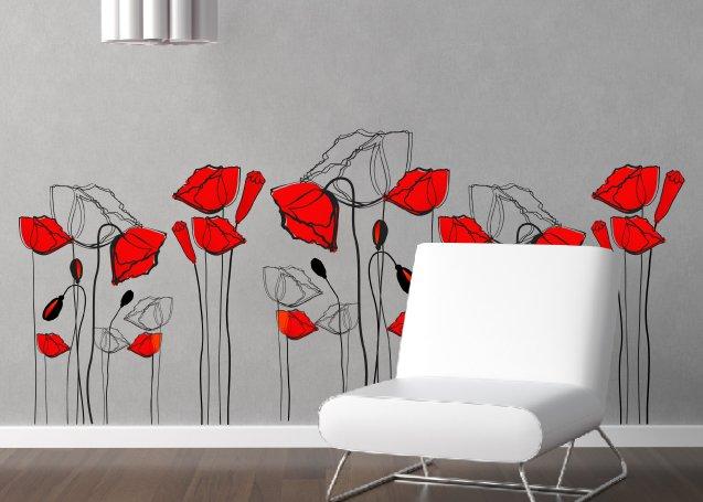 Adesivi murali tante tipologie per decorare le pareti - Decorazioni floreali per pareti ...