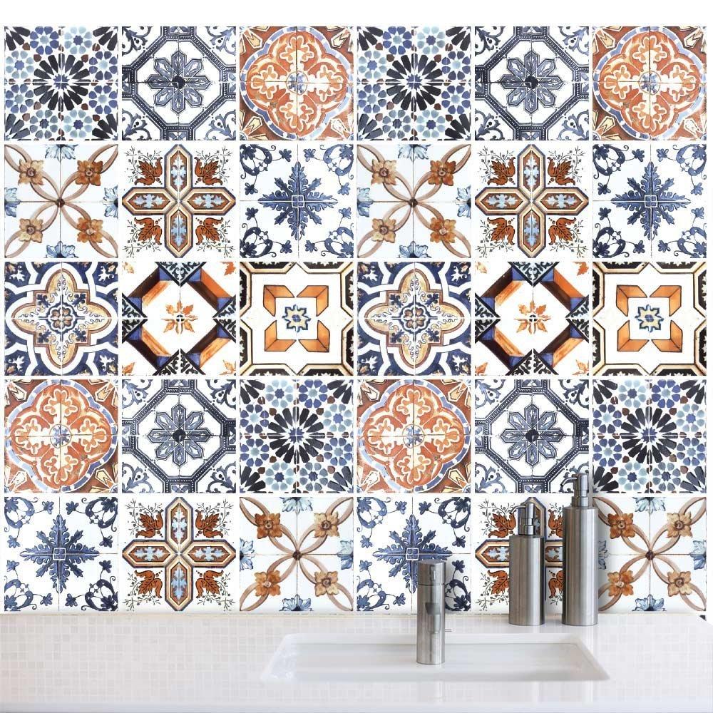 Azulejos portoghesi piastrelle e rivestimenti per bagno e - Adesivi per piastrelle cucina ...