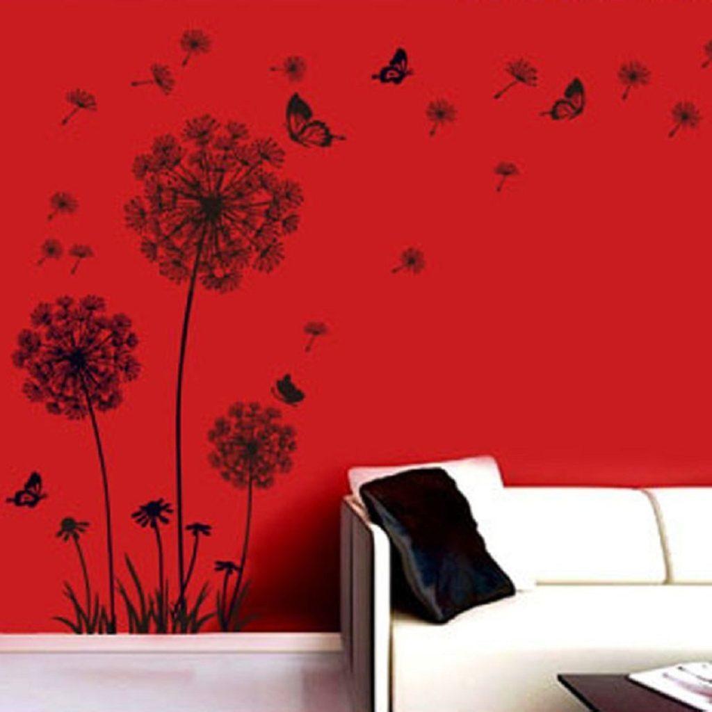 Adesivi per le pareti floreali