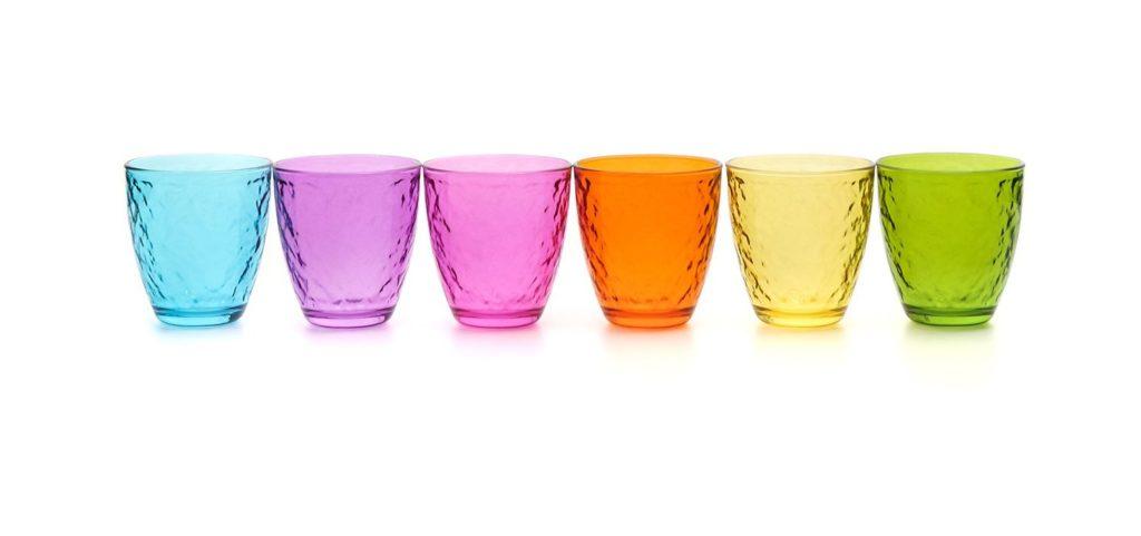 bicchieri colorati kasanova