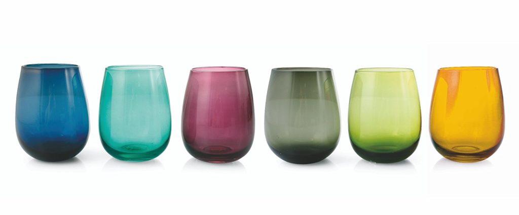 villa deste bicchieri colorati