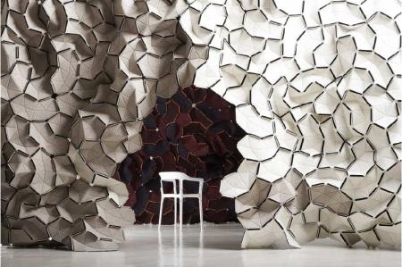 pareti mobili in tessuto