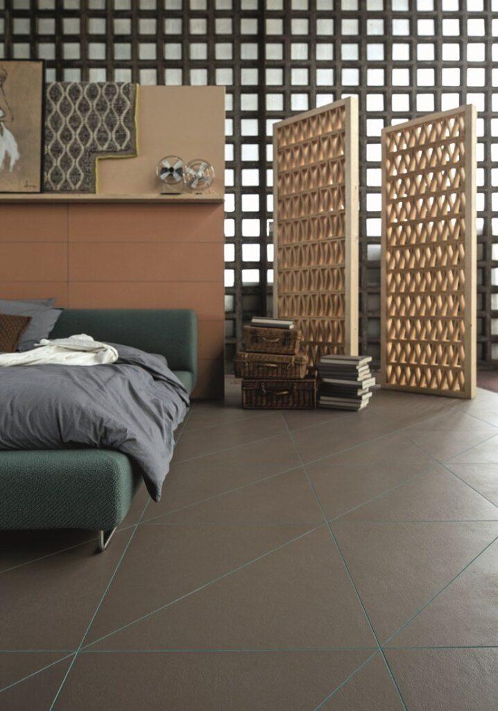 pareti mobili in terracotta