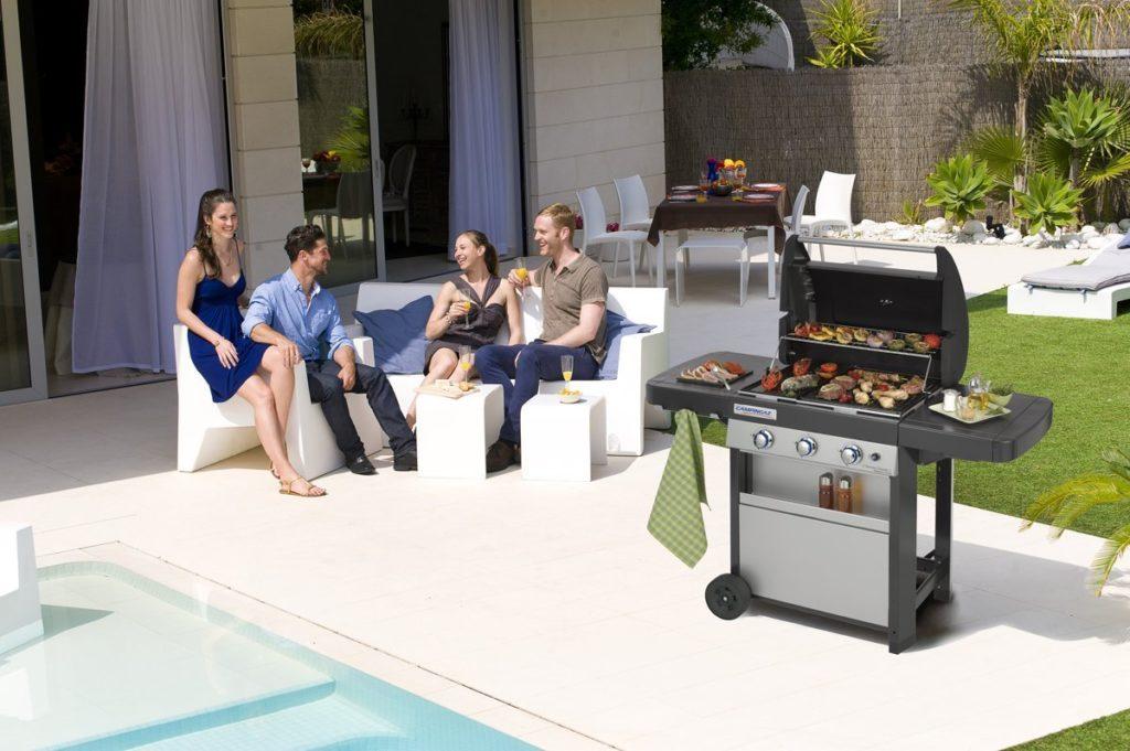 ampio barbecue a gas