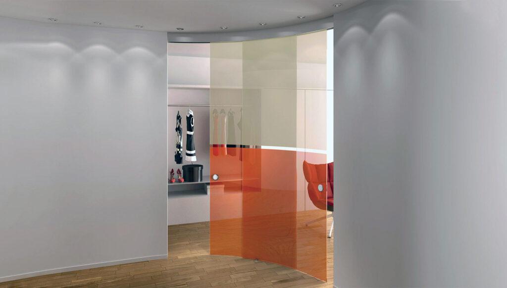 pareti mobili curve
