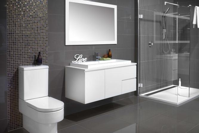 Pareti grigie come abbinarle agli ambienti e allo stile - Piastrelle grigie bagno ...