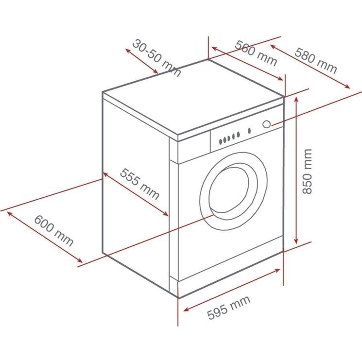Dimensioni lavatrice standard ridotte o extralarge - Profondita lavatrice ...