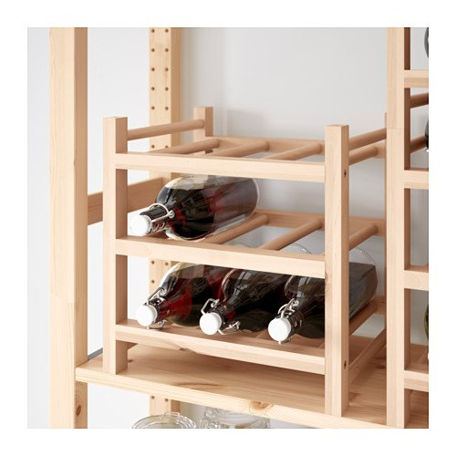 Porta bottiglie di vino in legno o in metallo le - Porta vino ikea ...