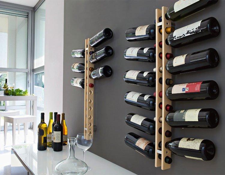 Porta bottiglie di vino in legno o in metallo le for Porta vino fai da te