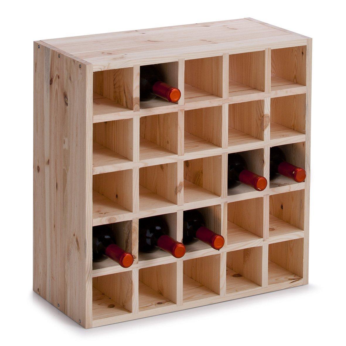 Porta bottiglie di vino in legno o in metallo le for Piccoli piani di casa in metallo