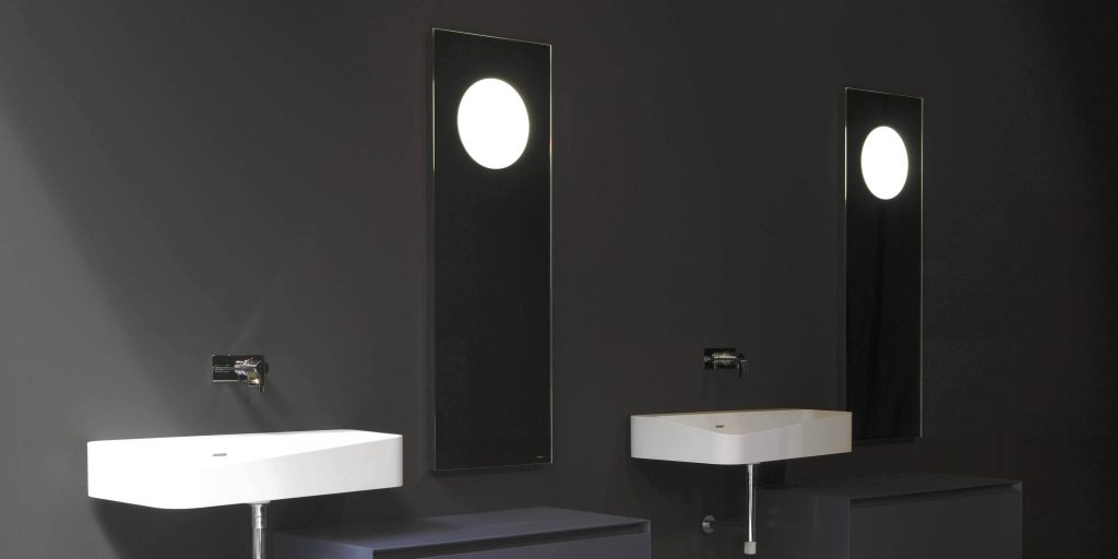 specchio con luce antonio lupi