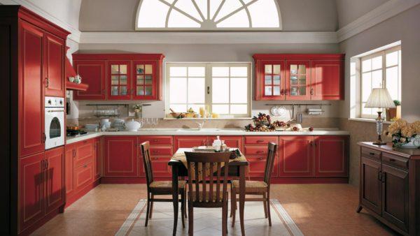 velia cucina colore rosso