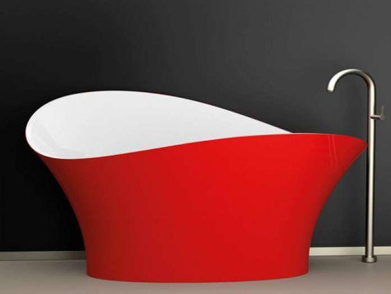 vasca colore rosso