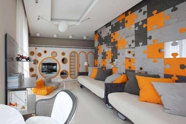 colore grigio e arancione