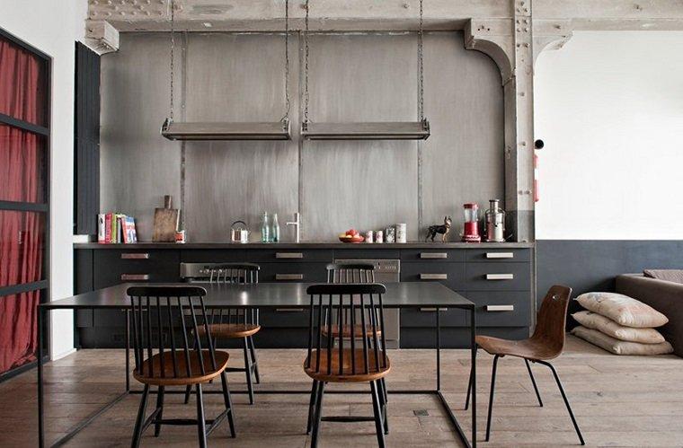 colore grigio casa industrial
