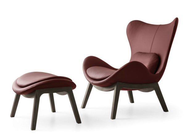 Calligaris catalogo sedia sedia lazy w in pelle