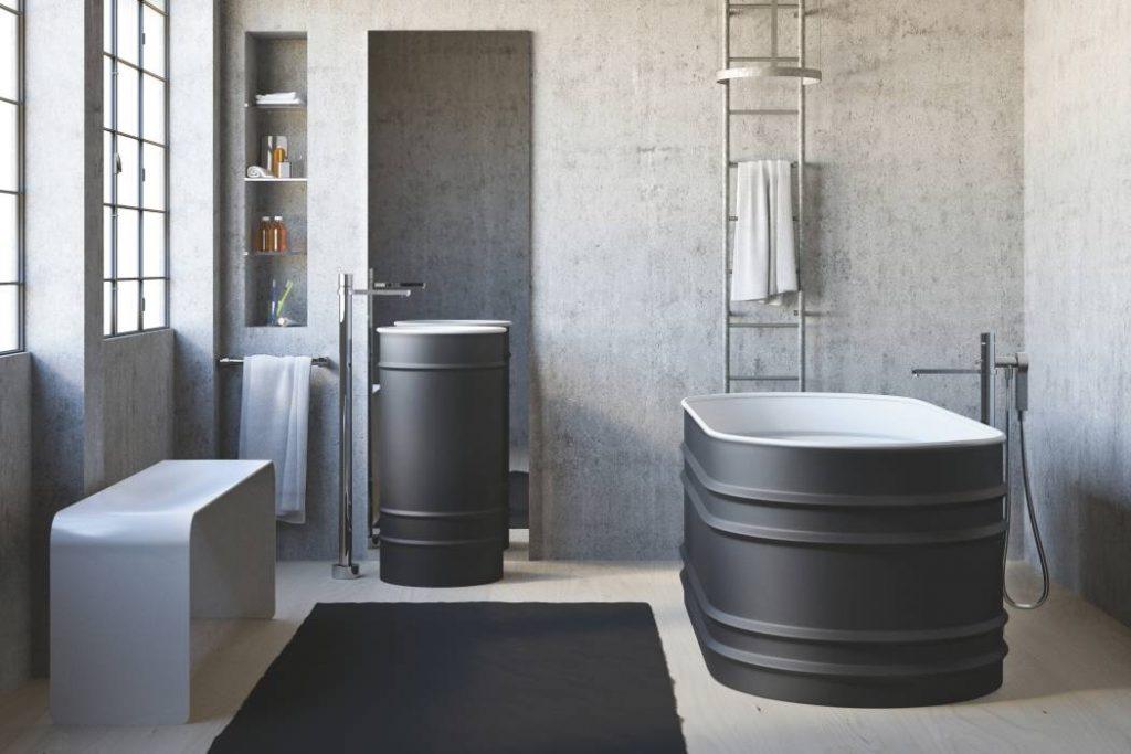 colore grigio in bagno