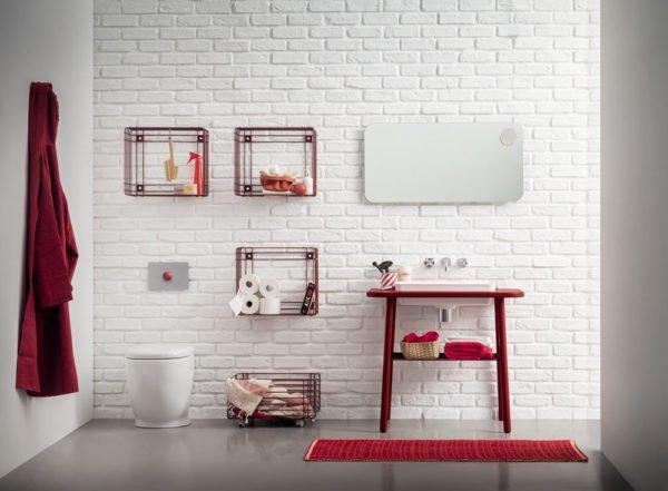 birex lavabo rosso