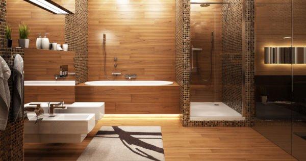 Parquet in bagno scopriamo i vantaggi ed punti a sfavore di questa scelta designandmore - Bagno in parquet ...