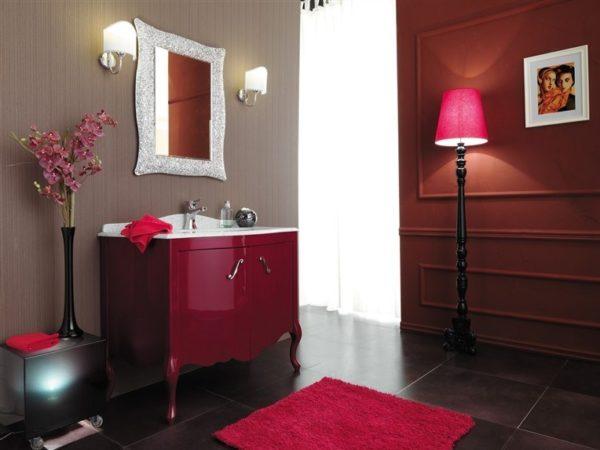 color porpora mobili Legno Bagno