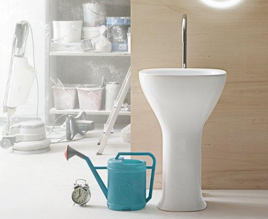 lavabo monolito ceramica globo