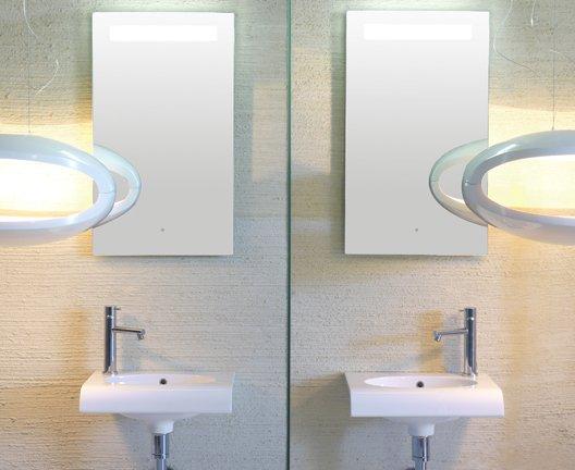 BowlPlus specchio bagno ceramica globo