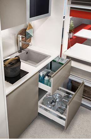 mini cucina trasformabile clei