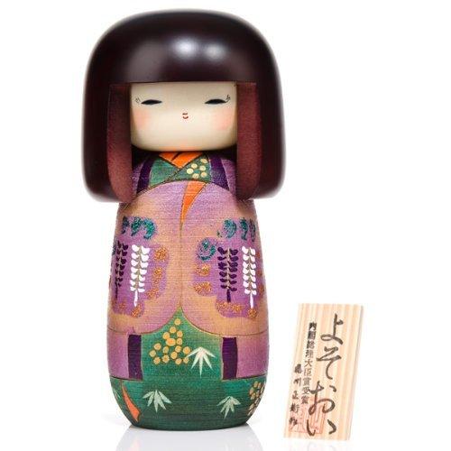 bambola Kokeshi color glicine