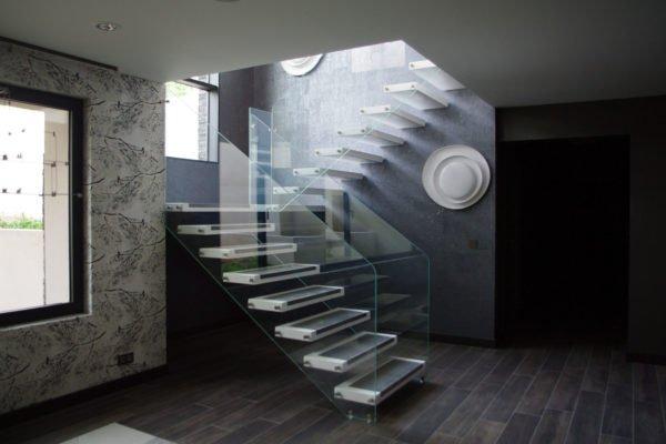 maretti scale in vetro strutturato