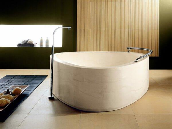 I conci arredo bagno con lavabi vasche in marmo e pietra designandmore arredare casa - Piatto doccia triangolare ...