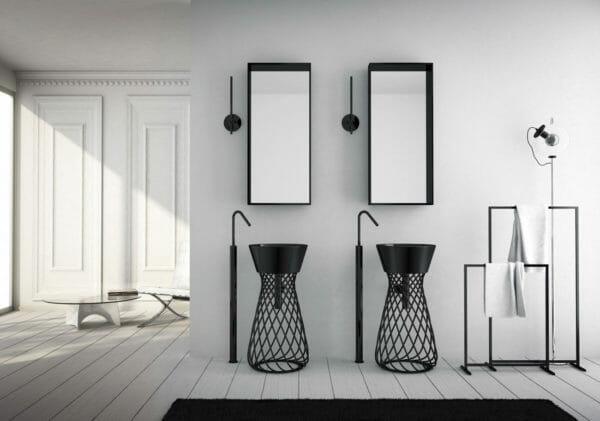 hidra ceramica lavabo wire nero